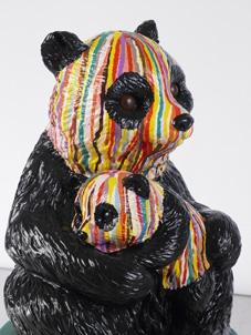 Cheerful stripy panda - Paul Smith